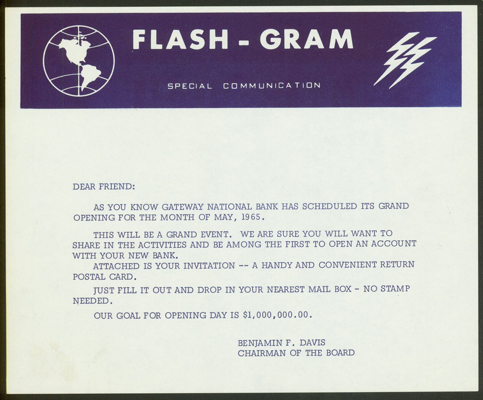 Flash Gram Invite